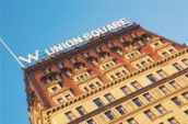 low angle photography of Union Square building