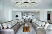 W New York Times Square Extreme Wow Suite Living Room