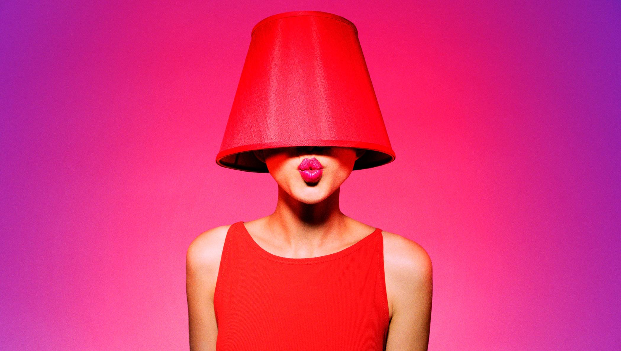 women's red scoop-neck sleeveless top