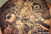 monster back tattoo