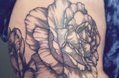 petaled flower tattoo