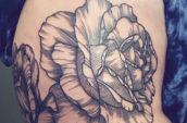 petaled flower tattoo