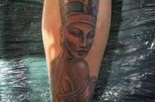 female character tattoo art
