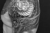 gray dragon tattoo