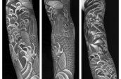 koi fish tattoo collage