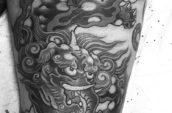 mythical elephant tattoo