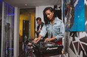 woman DJ'ing