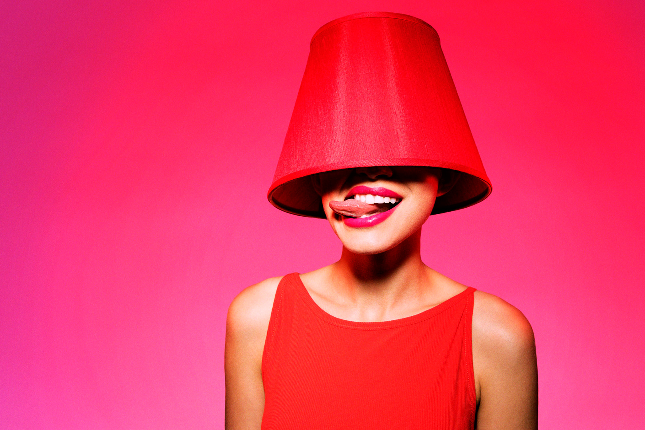 woman wearing red tank dress