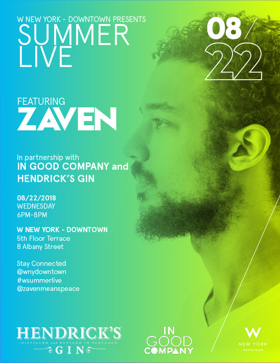 Summer Live Featuring Zaven poster advertisement