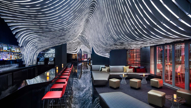 empty lounges inside bar
